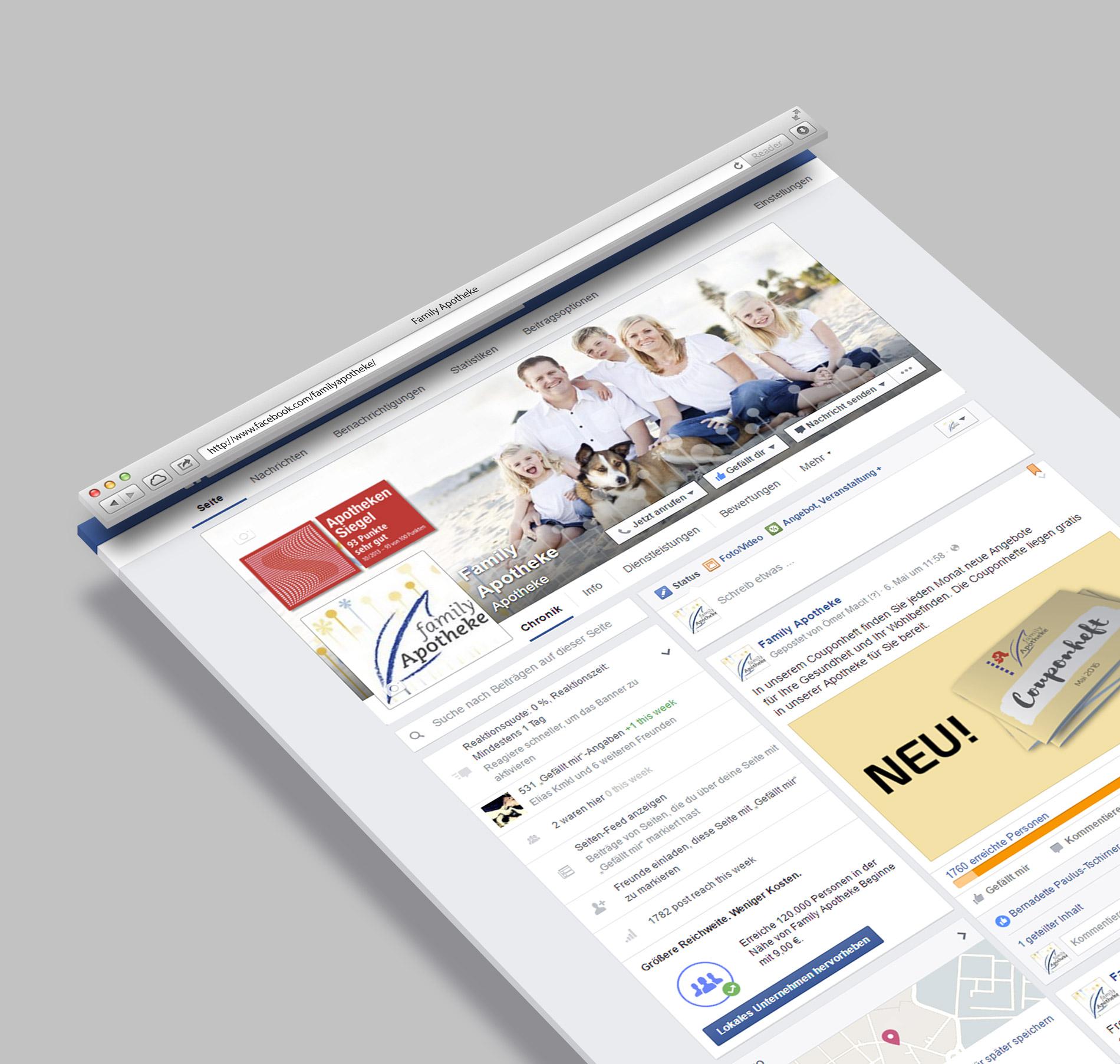Social Media Betreuung Facebook Family Apotheke
