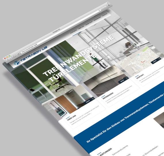 Homepage Tetragon - Webdesign