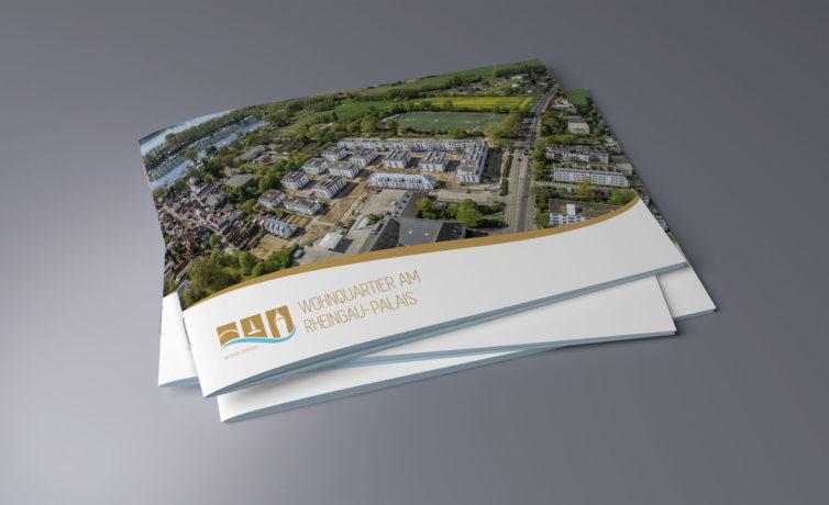 Gestaltung Broschüre A4 für das Wohnquartier am Rheingau-Palais - Grafikdesign/Printdesign
