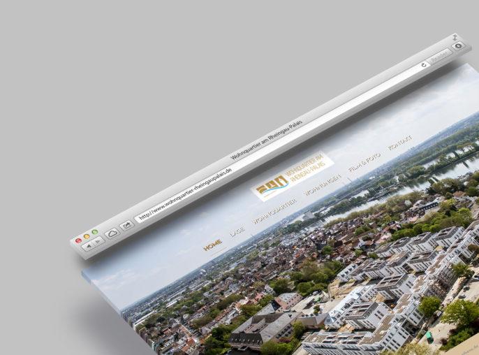 Homepage Website Erstellung Wiesbaden Wohnquartier am Rheingau-Palais Webdesign