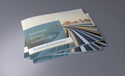 Broschüre für Simmons & Simmons (Anwaltskanzlei)